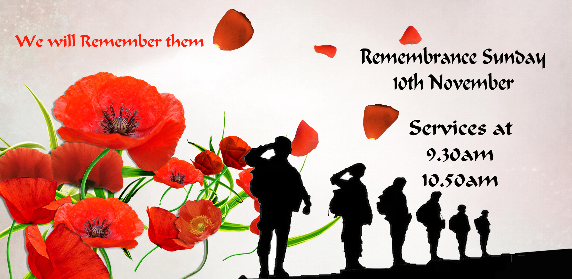 Remembrance Sunday Services - Sunday 10th November at 9.30am and 10.50am